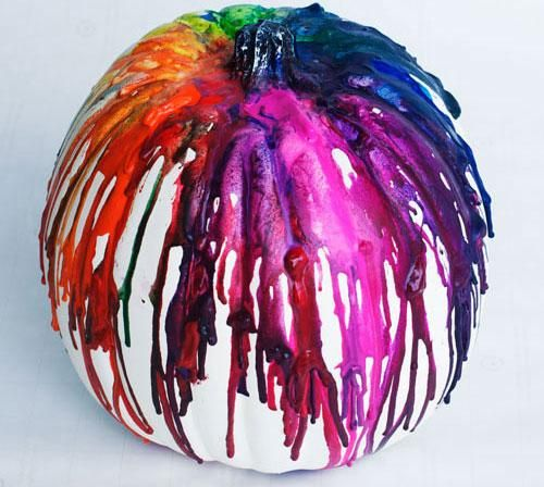 crayon art pumpkin #halloween