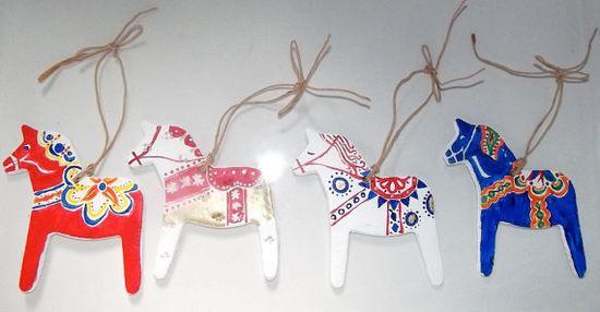 Dala Horse Christmas Decoration