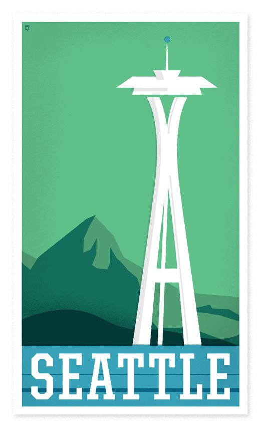 "The Heads of State: More great work from ""The Heads of State"".  These travel posters are clean, crisp, and nicely styled."