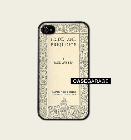 Iphone 4 Case, Iphone case, Iphone 4s Case, Iphone 4 Cover, Hard iphone 4 Case - Book Cover jane Austen Pride and Prejudice. €16,00, via Etsy.
