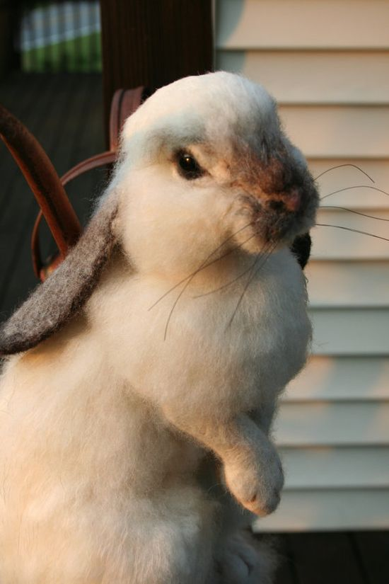 felted bunny...really.