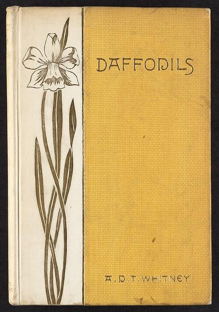 Daffodils (1887). book binding: Sarah Whitman. Boston Public Library