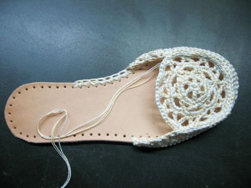 hand made crochet slippers