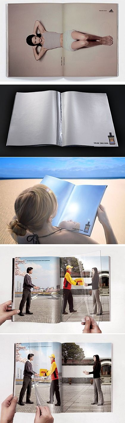Creative Double Page #commercial ads #interesting ads #funny commercial ads