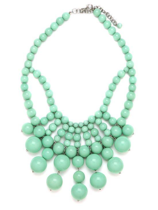 mint bib necklace