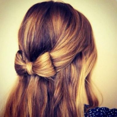 Bow hair updo