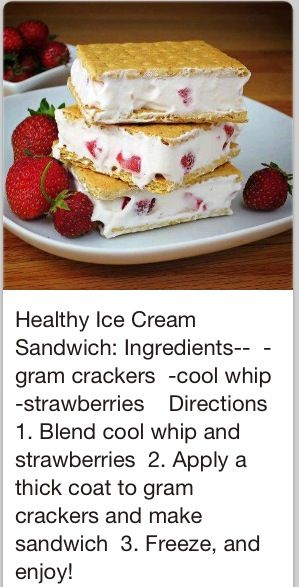 I love these!  Literally just had a couple.  I use light Cool Whip and low fat cinnamon graham crackers.  Comes out to under 200 calories for 2 sandwiches.  Definitely worth trying if you have a sweet tooth.   -Debra
