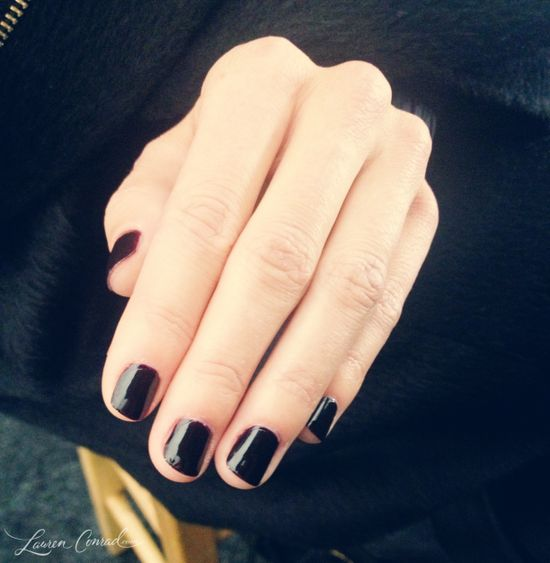 classic opi lincoln park after dark nail polish at bcbg fall 2013 #nyfw. (Love this color just put it on for the first time in like 2 years.)