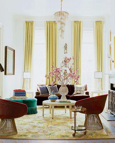 Nanette Lepore's living room via Elle Decor