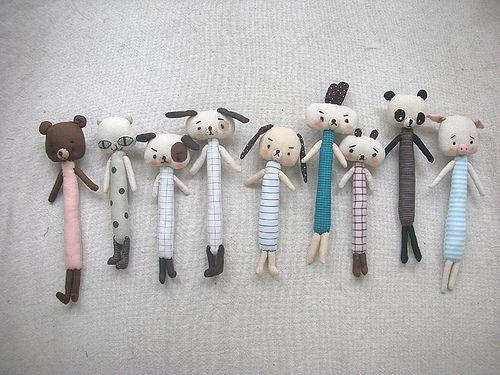 Animals Brooches by evangelione, via Flickr