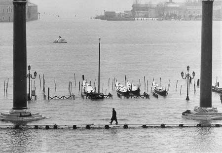 Gianni Berengo Gardin - Acqua alta in piazzetta - 1958 ca.