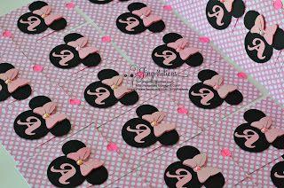 Minnie mouse handmade invitations