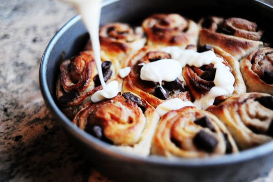 // Chocolate Chip Cookie Sweet Rolls