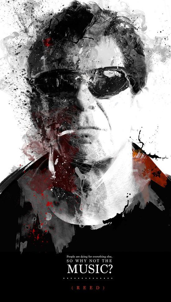 graphic design. poster lou reed RIP. music rock