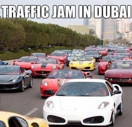 Dubai traffic jam