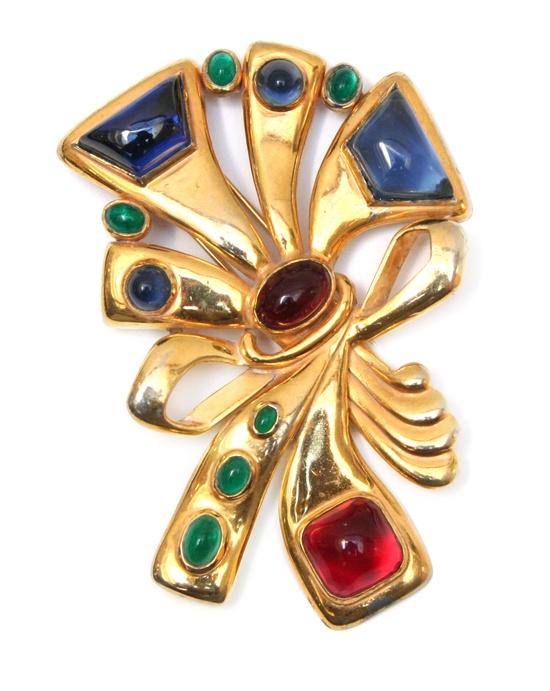 1940's Hattie Carnegie five inch brooch