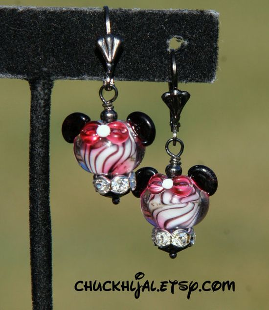 Pink Wild Animal Print Disney Inspired Minnie Mouse by chuckhljal, $35.00