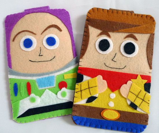 Toys Story collection Handmade Woody iphone, iphone 4S felt cell phone case (FREE SHIPPING). $18.00, via Etsy.