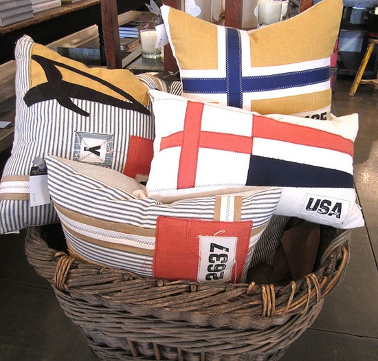 flag pillows.