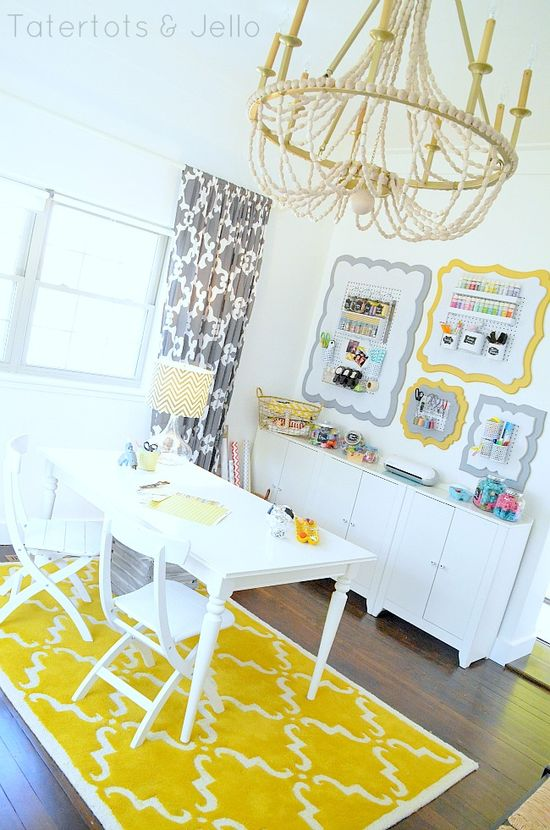 cheerful craft/office space by @Sam McHardy McHardy Taylor Cox and Jello .com