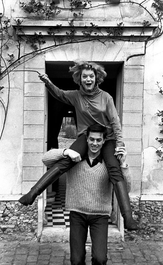 Romy Schneider y Alain Delon, 1958