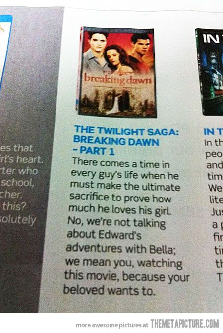 Best review of Twilight ever written…
