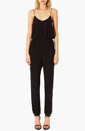 So easy! Topshop Black Silk Jumpsuit