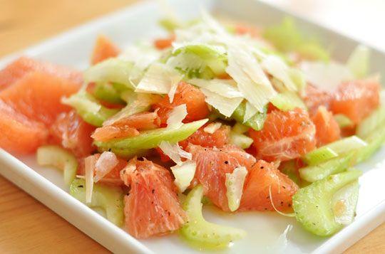 Celery and grapefruit salad