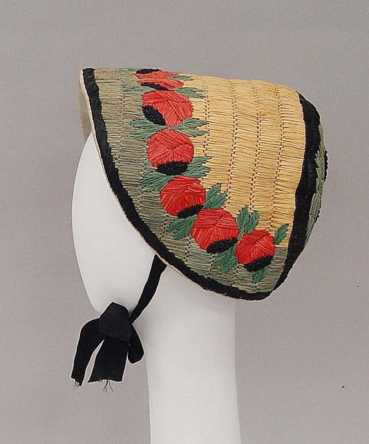 Raffia bonnet, 1924-26