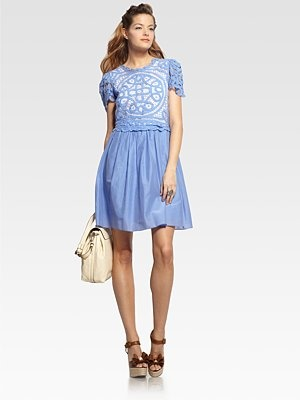 Moschino Lace Bodice Dress