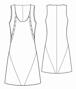 free pattern #5461 Sundress with shaped relieve