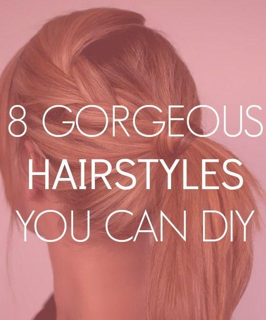 8 diy hairstyles