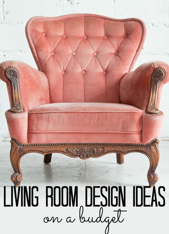 Living room design ideas - on a budget! Love these!