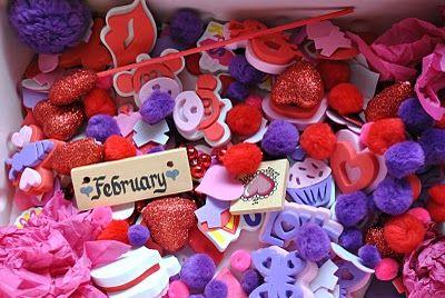 Valentines sensory bin.
