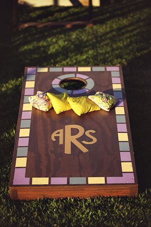 Corn hole for wedding reception..