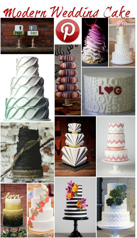 Boho Pins: Modern Wedding Cakes