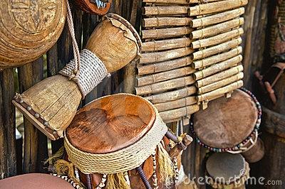 Handmade musical instruments by Tom Dowd, via Dreamstime