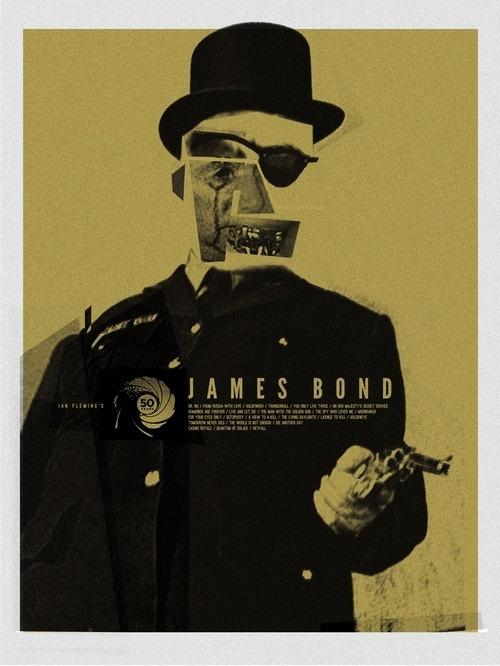 50 Years of James Bond / TheArtOfAdamJuresko