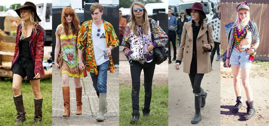 Sienna Miller, Florence Welch, Cara Delevingne, Alexa Chung & Fred Butler's Glastonbury style 2013. Click photo for our hot festival style tips for the summer!  #streetstyle #glasto #glastonbury2013 #glastonbury #fashion #style #summer #festival