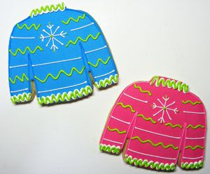 Winter Sweater Decorated Cookies