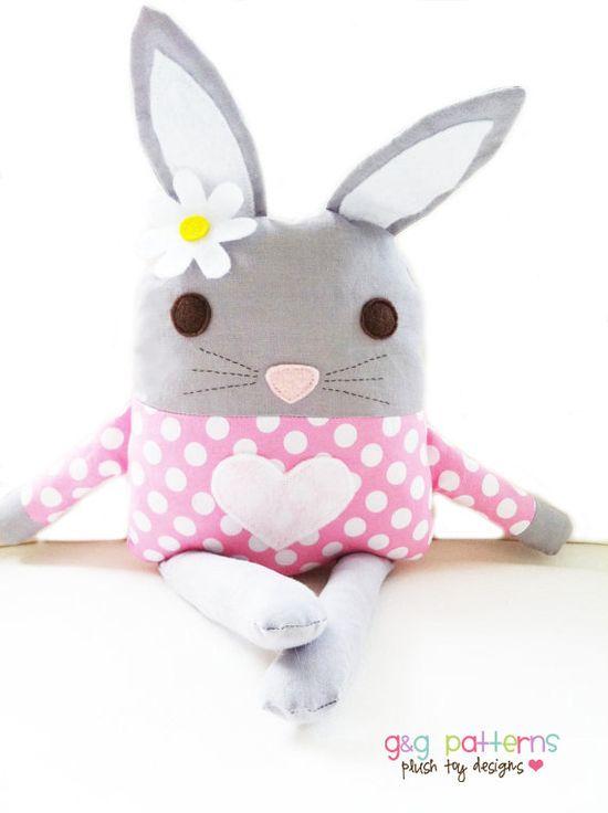 Toy Sewing Pattern - Bunny Doll Softie - PDF