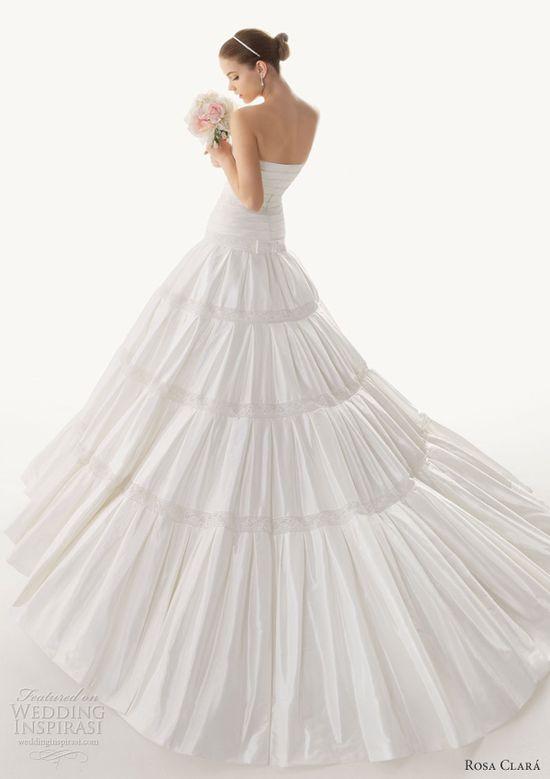 rosa clara 2013 begona strapless wedding dress