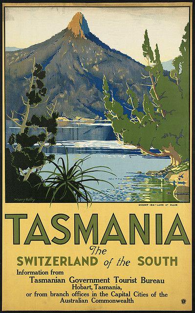 tasmania vintage poster