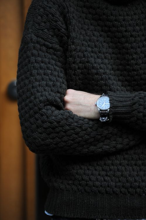 A black sweater is a must guys ~ Old Man Fancy.
