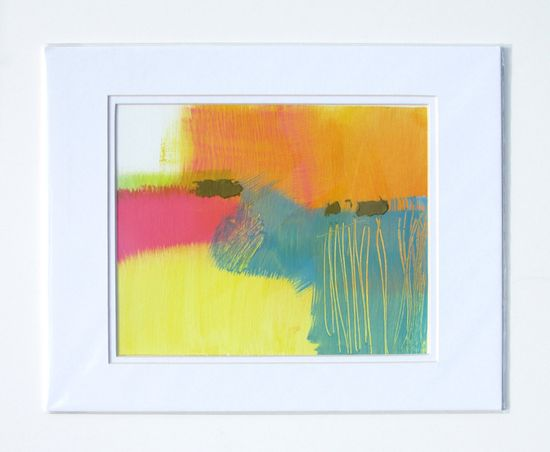 Painting 196, Bright abstract landscape by Lauren Adams. #rowenamurillo
