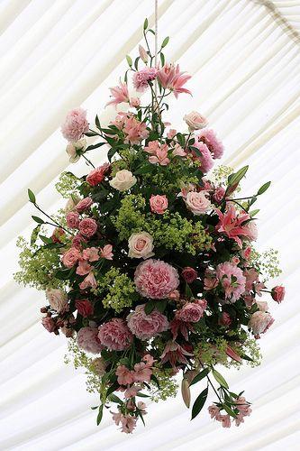 hanging flowers arrangement
