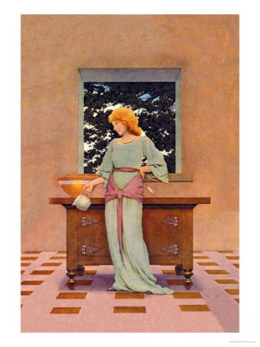 Violetta Premium Poster by Maxfield Parrish