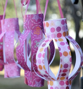 Black & white, silver & gold -- make these paper lanterns in any color! ?