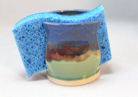 Handmade Pottery Ceramic Sponge Holder by LoJoCeramics on Etsy