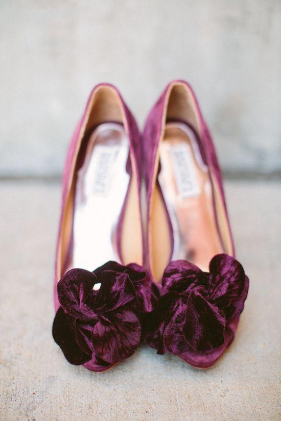 Plum Velvet - Fabulous Wedding Shoes